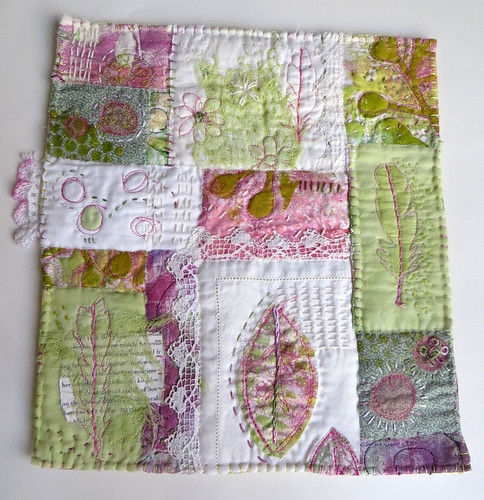 Flowers and Feathers and Everything Nice ~ art quilt