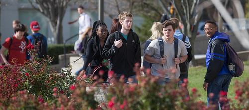 Crossing campus