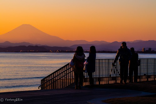 winter people january olympus kanagawa 夕景 冬 富士山 rin mtfuji fujisawa eveningglow 2015 片瀬海岸 em5 片瀬江ノ島 1月 kataseshore olympusm60mmf28macro pc233748