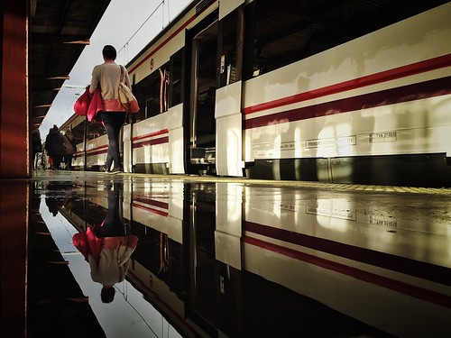 My daily reflection. Hurry up, or we'll miss the train by Luisón