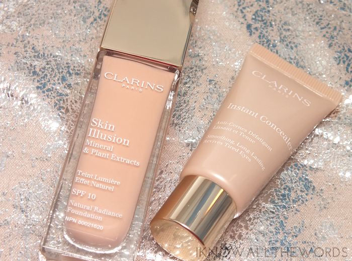 clarins skin illusion foundation and clarins instant concealer