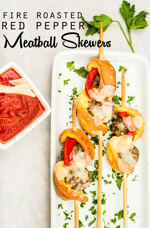 fire roasted red pepper meatball skewers #newtradish in_the_know_mom