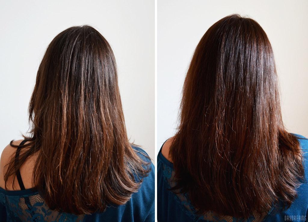 Antes e depois - L'Óreal Casting Creme Gloss