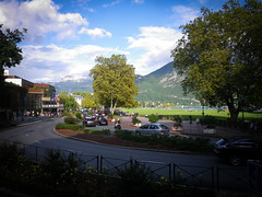 Annecy from the second floor cafe
