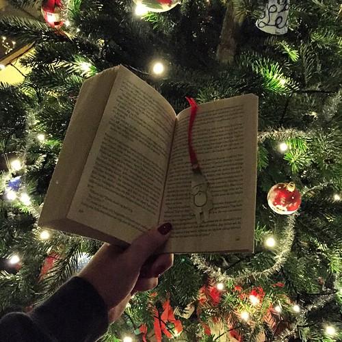 Inledde dagen på bästa sätt. God jul önskar jag och mitt tomtebokmärke!