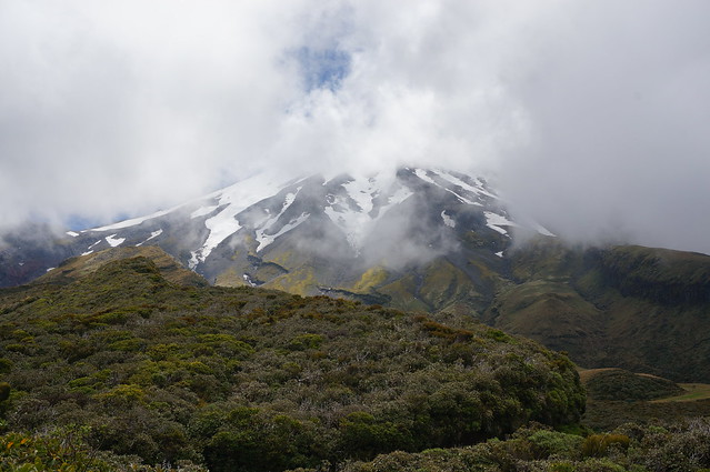 Snow on Mt. Taranaki