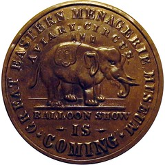 Selma Circus and Balloon Show Token obverse