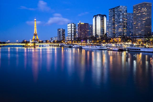Paris by nightfall