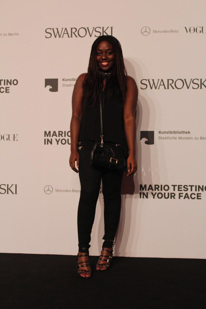 Lois Opoku Mario Testino in your face vogue opening party berlin lisforlois