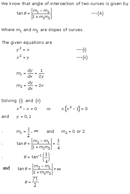 RD Sharma Class 12 Solutions Chapter 16 Tangents and Normals Ex 16.3 Q1-i