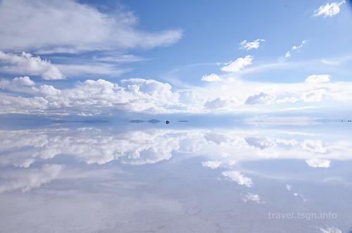 【写真】世界一周 : ウユニ塩湖(夕方-4)