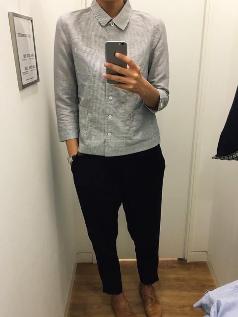 in the fitting room uniqlo x idlf