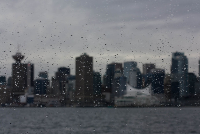 Vancouver through raindrops