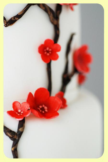 Cherry Blossom Cake - detail