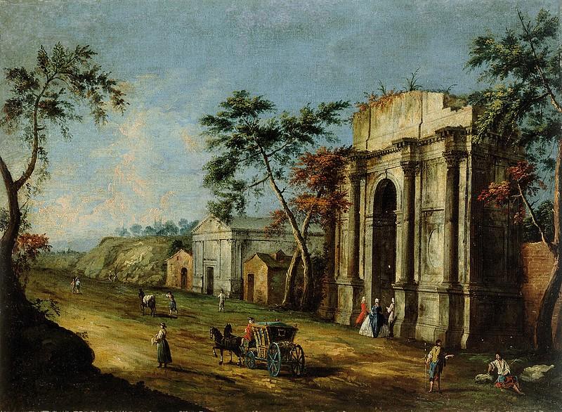 Francesco Albotto - Capriccio klasicnim slavolokom (c.1750)