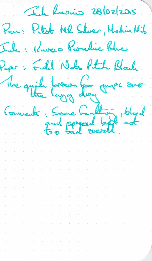 Kaweco Paradise Blue - Field Notes