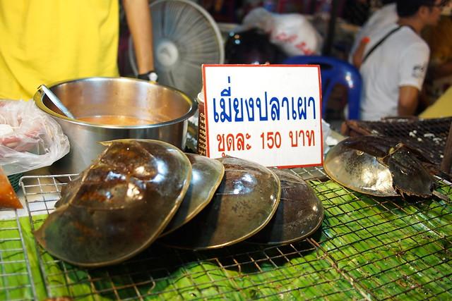 horseshoe crabs, Talad Rot Fai, Bangkok, Thailand