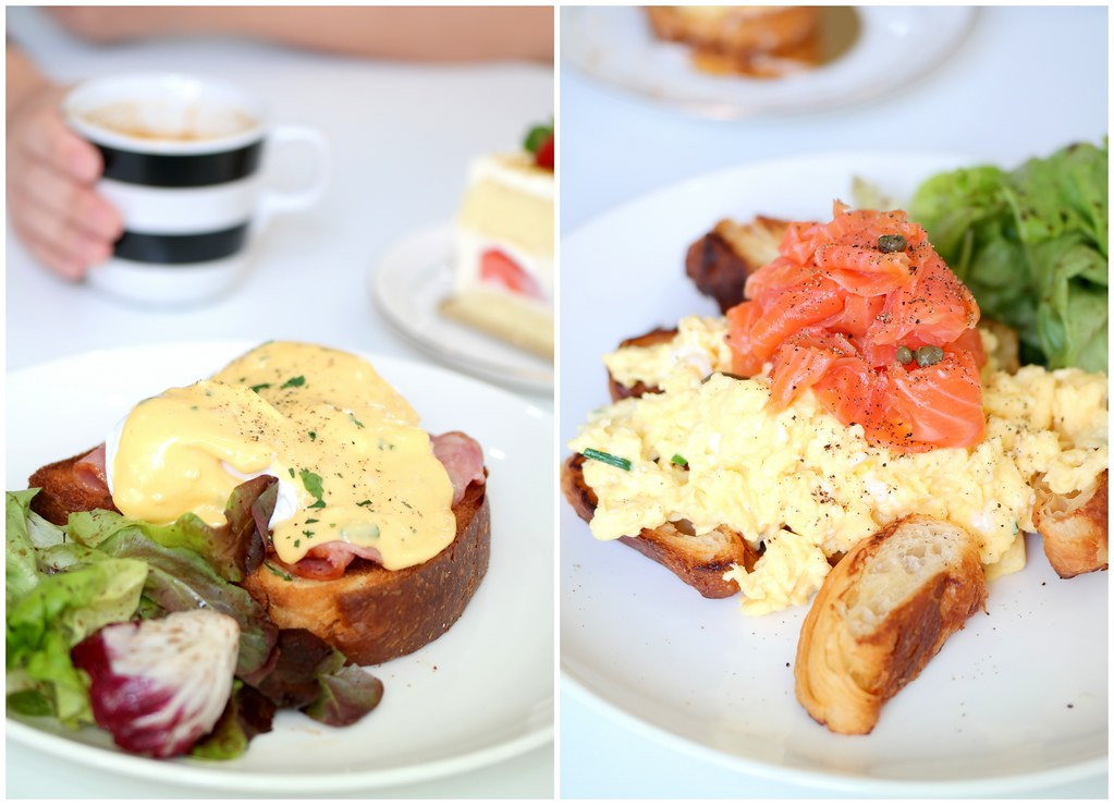 Boufe Boutique Cafe's Classic Croque Madame & Smoked Salmon Croissant