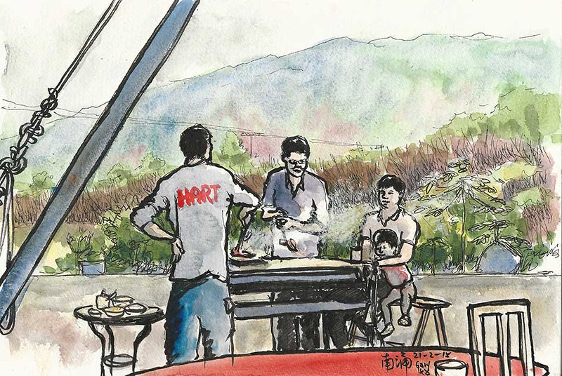 Family BBQ Party in Nam Chung