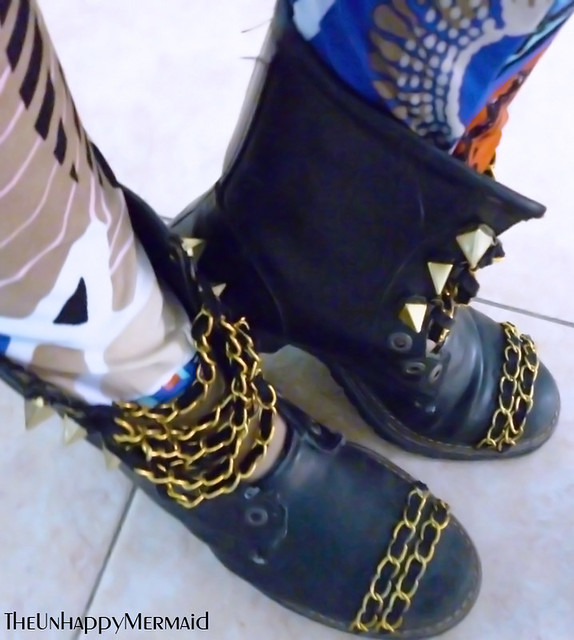 DIY Chanel inspired boots