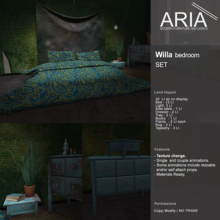 [ARIA] Willa bedroom Set @ UBER!