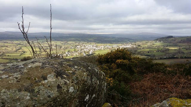Moretonhampstead from Hingston Rocks