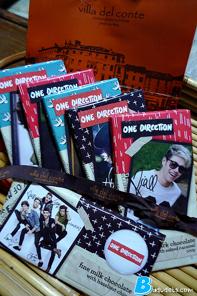 one direction chocolates from villa del conte