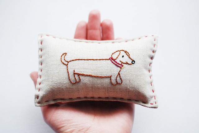 Darling Dachshund Teeny Pillow