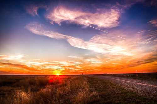 sunset cloud oklahoma field weather landscape unitedstates dusk davidson hdr