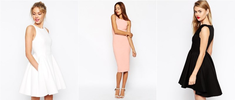 ASOS Super Full Bonded Skater Dress
