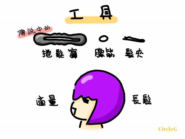 CIRCLEG 小繪圖 HOW TO MAKE A 丸子頭 包子頭 包包頭 髮型 第一次整丸子頭 圓子頭 YELLOW (2)