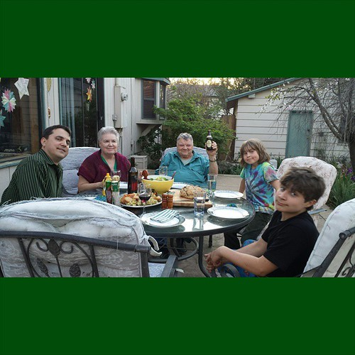 St. Patrick's Day dinner -- outside -- with my parents #holiday #home #stpatricksday #family #love #homemade