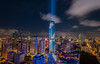 Bangkok night view Mahanakhon is the new highest building in Bangkok. ,Thailand