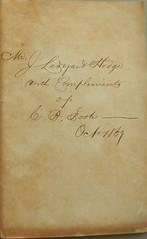 Cogan Foote sale inscription