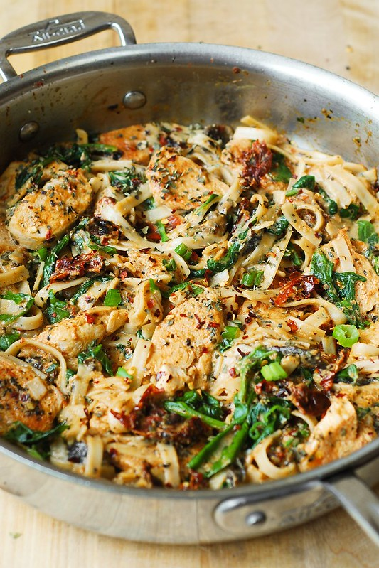 Sun-Dried Tomatoes, and Chicken, sun-dried tomato cream sauce, pasta ...