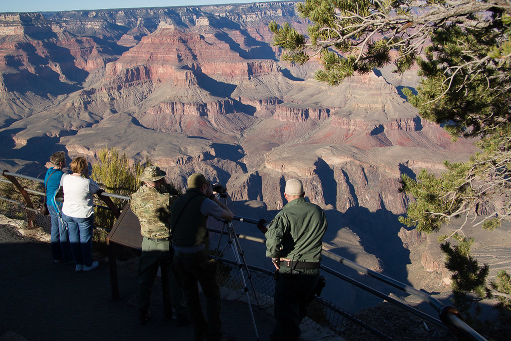Park Rangers looking for illegal activity at Grand Canyon