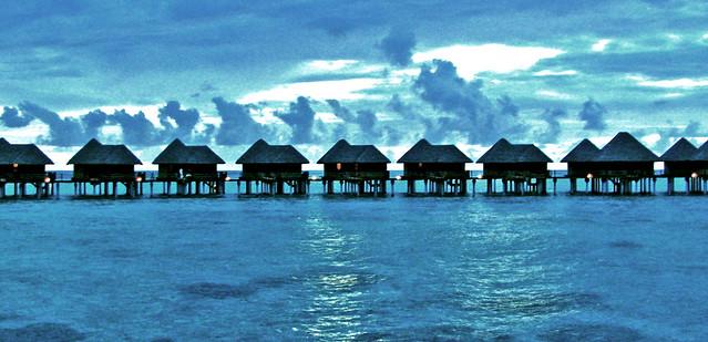 Maldives Vilureef water villa evening