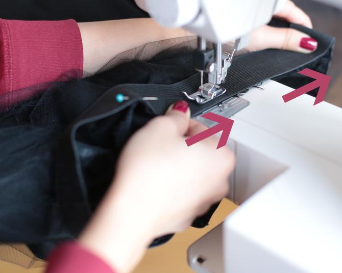 tulle skirt elastic waist DIY4