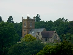 Hanbury Church from Jinney Ring Craft Centre, Worcestershire