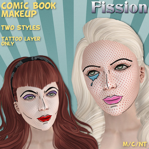 Fission-Comic book makeup