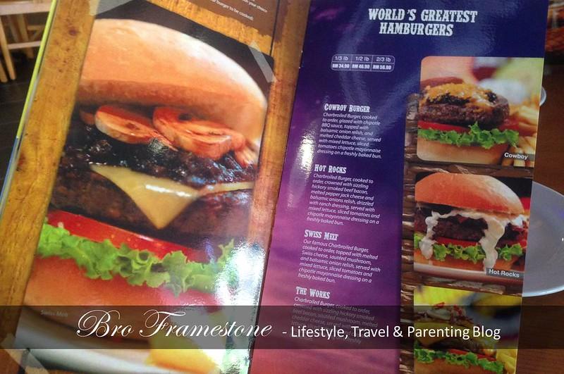 Menu Burger di Fuddruckers