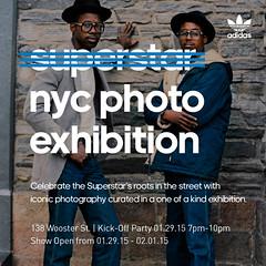 1/29 - Thurs - adidas originals superstar NYC photo exhibition