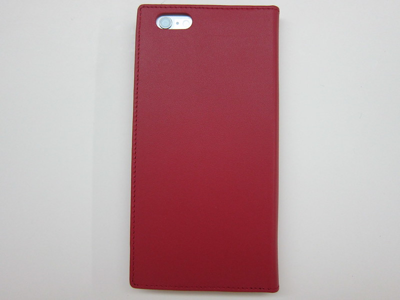 GRAMAS Full Leather Case - With iPhone 6 Plus (Back)