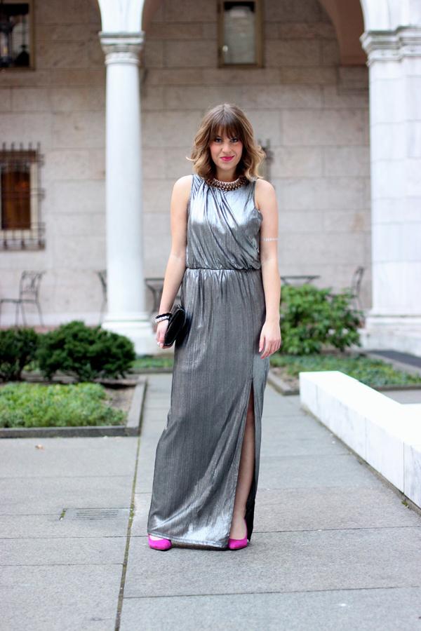 metallic holiday dress, new years eve dress