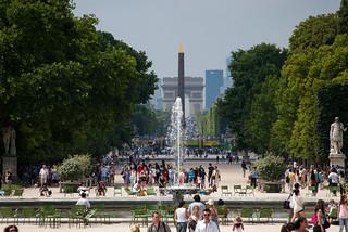 Le Jardin des Tuileries et l'Avenue des Champs Elysées