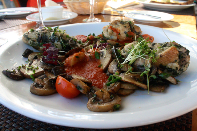 Spinach dumplings with mushrooms at Bastei, Bonn