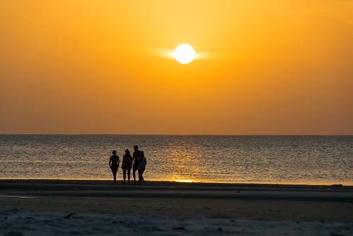 africa sunset sun silhouette tanzania golden zanzibar pemba