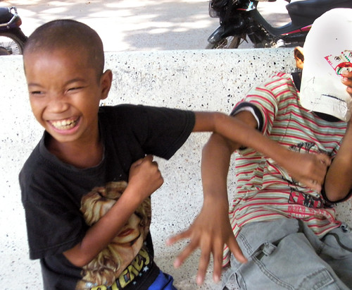 In Siem Reap: Some Mischievous Boys