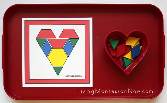 Heart Pattern Block Tray