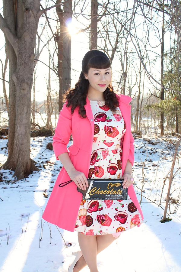 food print dress